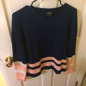 Cute navy blue and pink sweater! MAKE AN OFFER